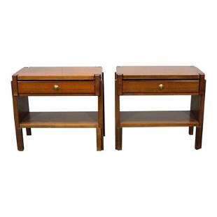 Pair Wood Night Stands
