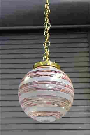 Venini Globe Pendant