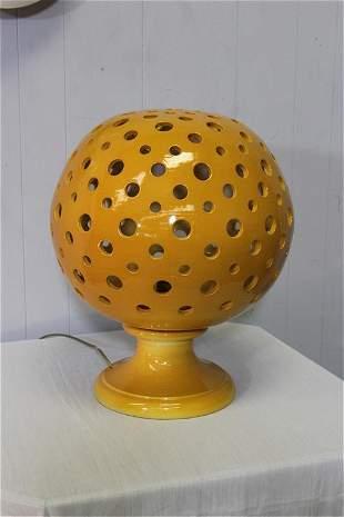 """21"""" Yellow Ochre Ceramic Lamp"""