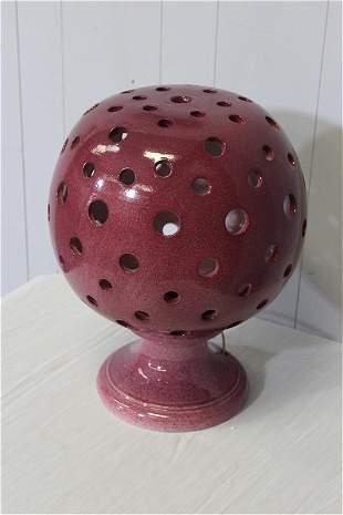 """18"""" Cranberry Ceramic Lamp"""