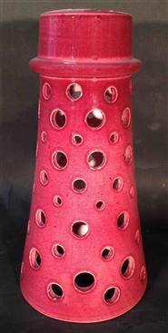 Cranberry Ceramic Pendant