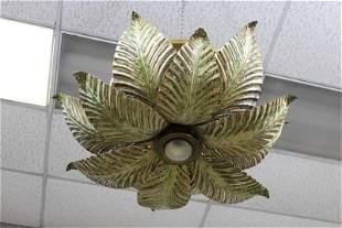 Metal Flower Shaped Chandelier