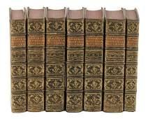 1740 7 ANTIQUE LEATHER BINDING VOLUMES Opera omnia