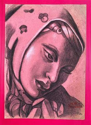 Tamara de Lempicka (1898-1980) Hand Drawing - style of
