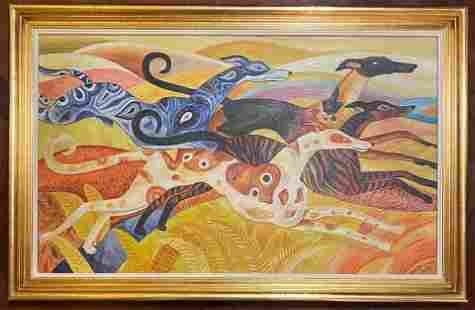 Dahlov Ipcar (1917-2017) - Oil (In the Style of)