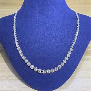 18K White Gold 10 CT Diamond Necklace
