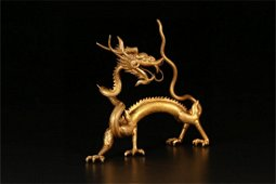 A Chinese Silver Dragon Shaped Ornament