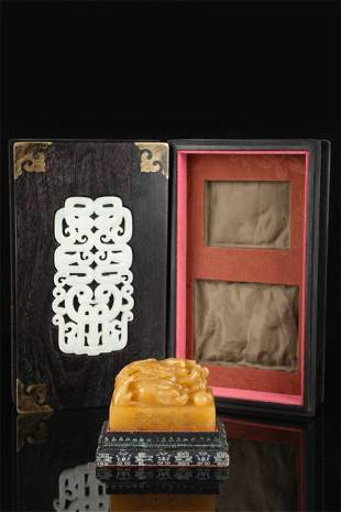 A Carved Tianhuang Stone Buddha Hand Top Seal