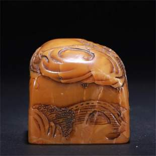 A Chinese Carved Tianhuang Stone Seal