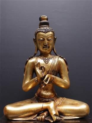 A Gilt Bronze Figure of Buddha