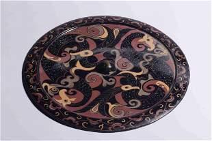 A Bronze Mirror with Bird Pattern