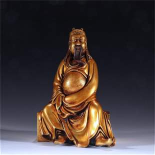 A Gilt Bronze Buddha Statue