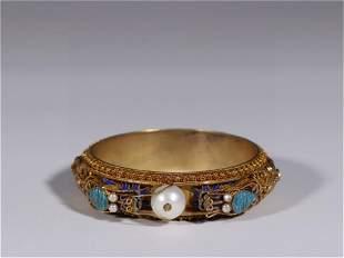 A Gilt Silver Bracelet