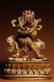 A Gilt Bronze Conjoined Buddha Statue