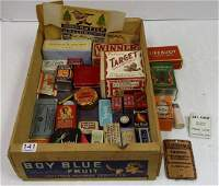 Group advertising boxes, tins, etc including Peter's
