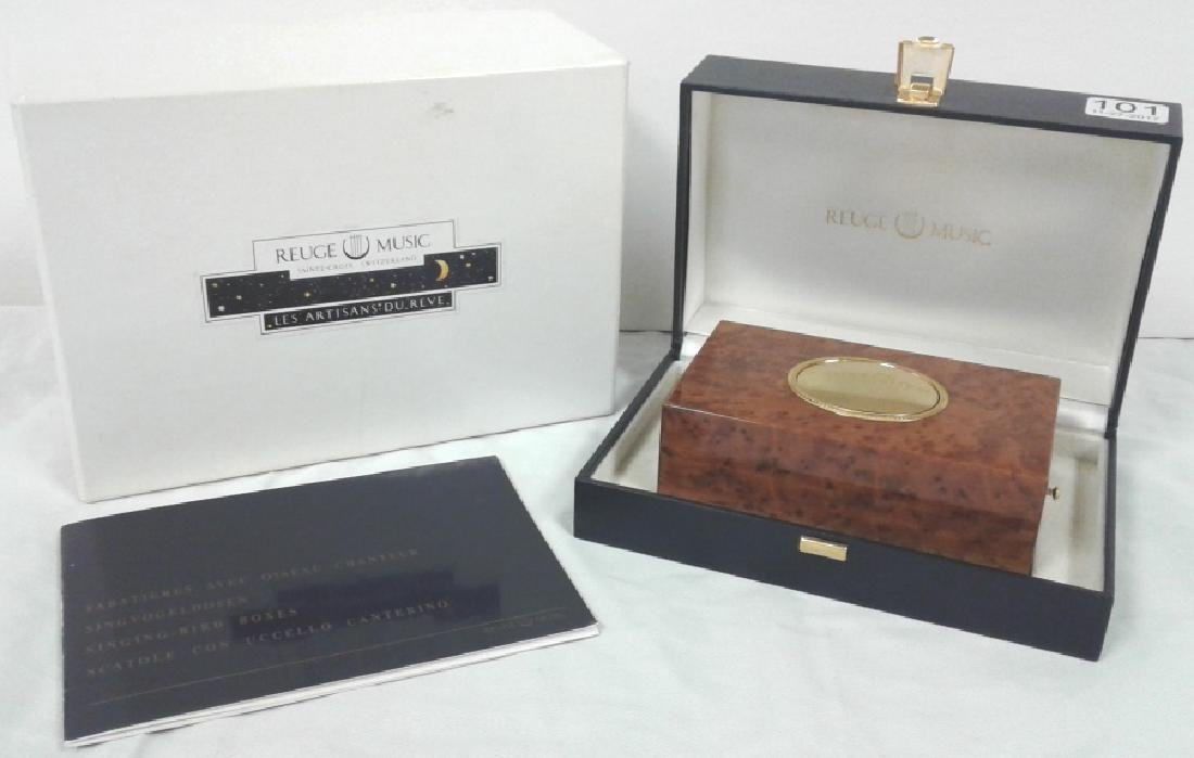 Reuge Sainte-Croix bird music box with original box &