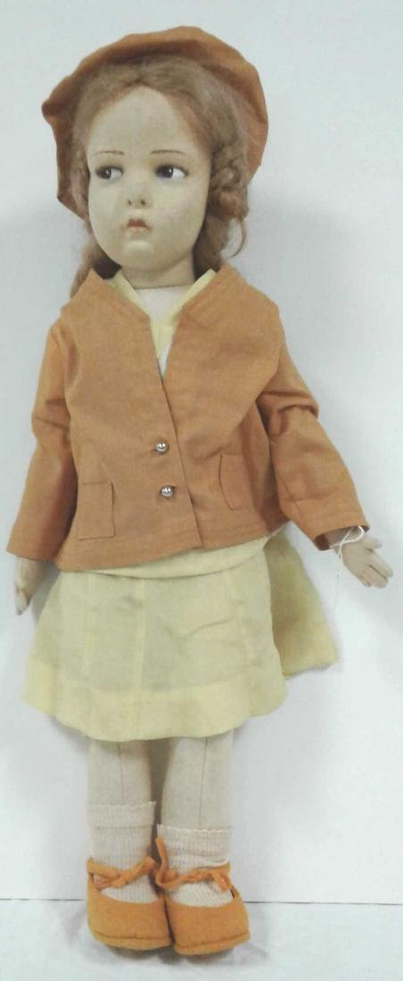 "22"" vintage Lenci doll with original outfit - no"