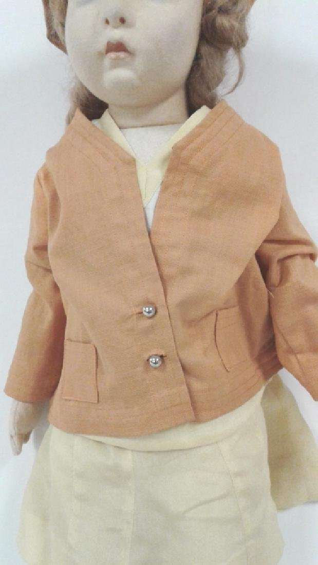 "22"" vintage Lenci doll with original outfit - no - 3"