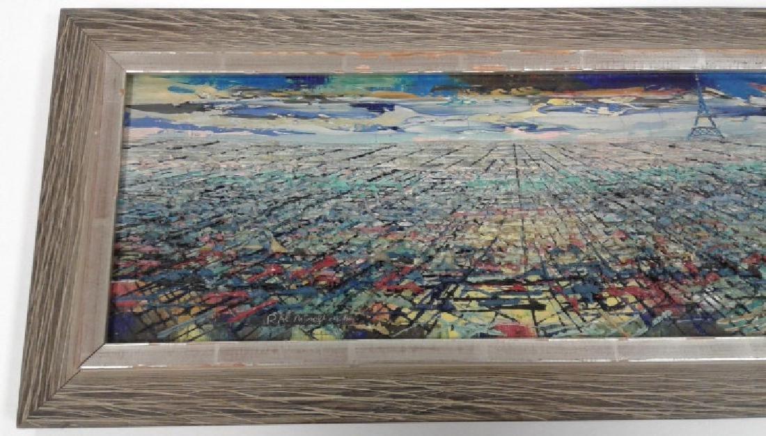 Signed Rae Minelli Paris oil on canvas inside - 2