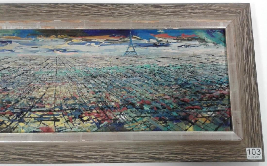 Signed Rae Minelli Paris oil on canvas inside - 3