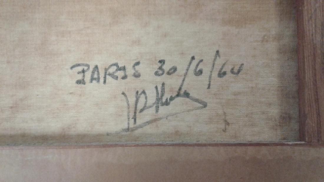 Signed Rae Minelli Paris oil on canvas inside - 6