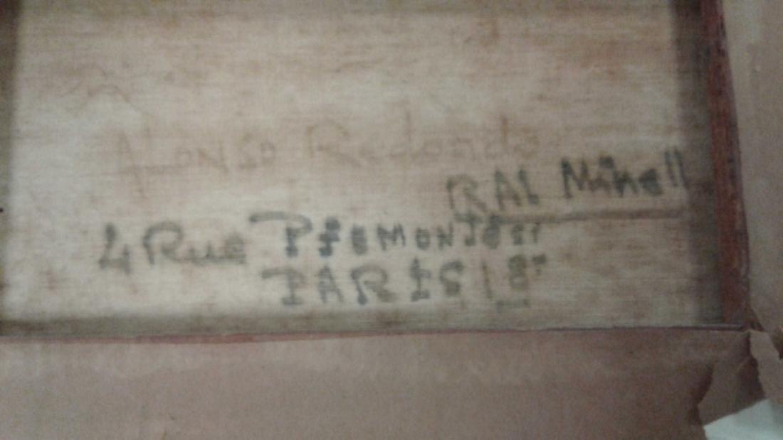 Signed Rae Minelli Paris oil on canvas inside - 7