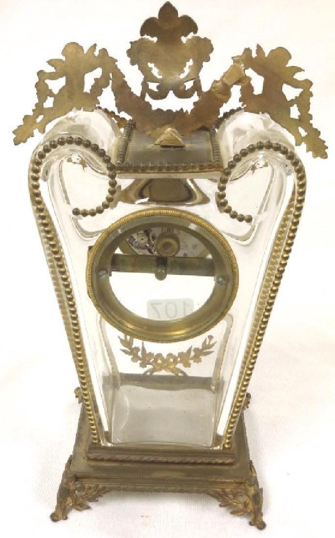 """8 1/2"""" Bailey, Banks & Biddle ormolu mounted crystal - 6"""