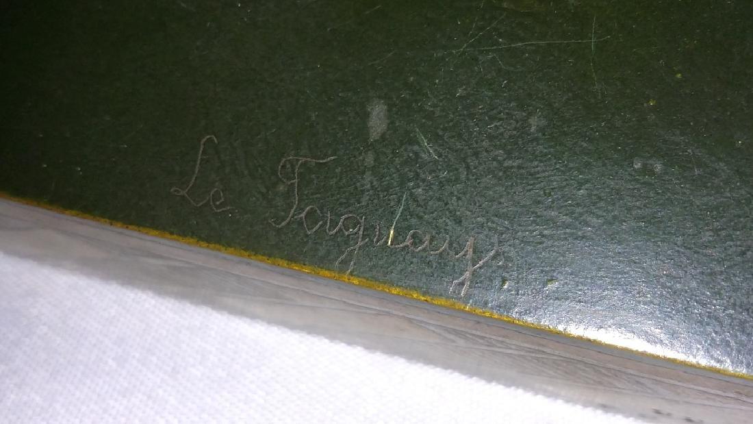 Rare signed Le Faguays art deco bronze figures on base - 10