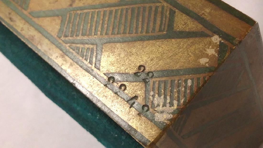 Rare signed Le Faguays art deco bronze figures on base - 8