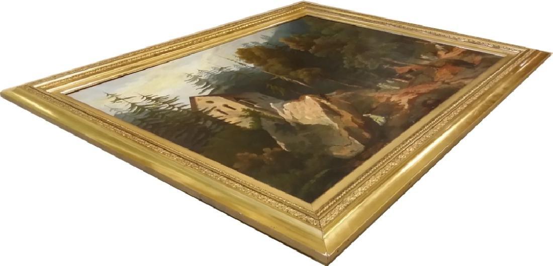 Framed signed L. D. Webster 1834 Pinx oil on canvas- - 10