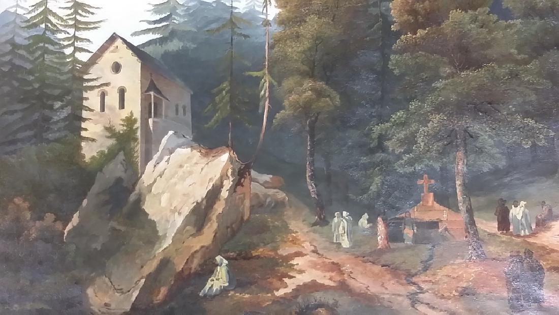 Framed signed L. D. Webster 1834 Pinx oil on canvas- - 2