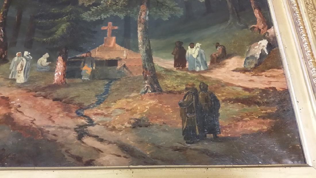 Framed signed L. D. Webster 1834 Pinx oil on canvas- - 4