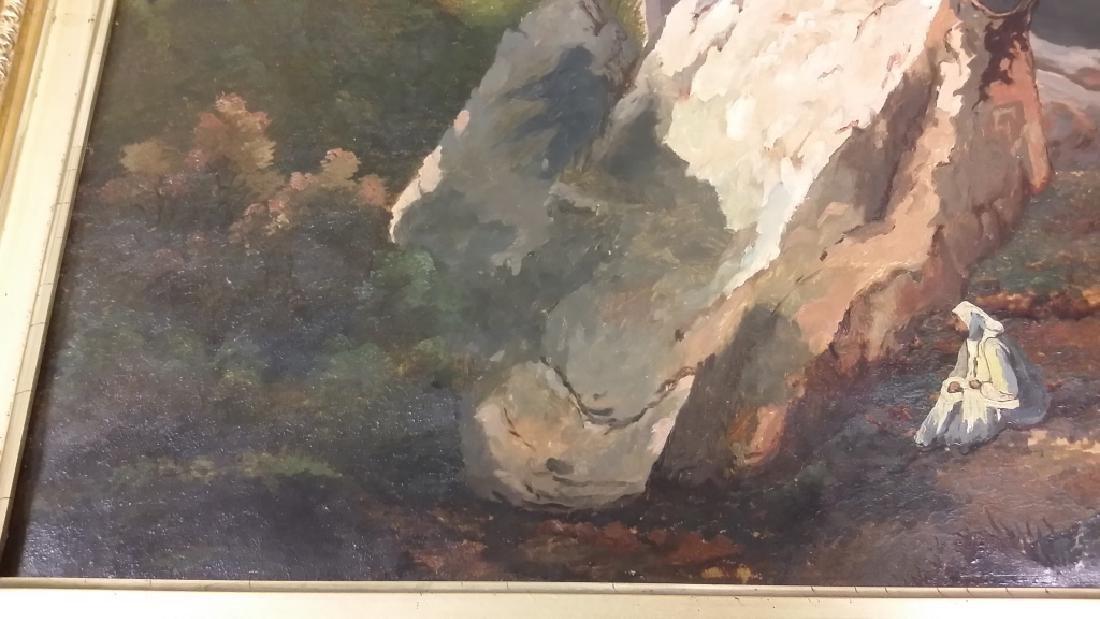 Framed signed L. D. Webster 1834 Pinx oil on canvas- - 5