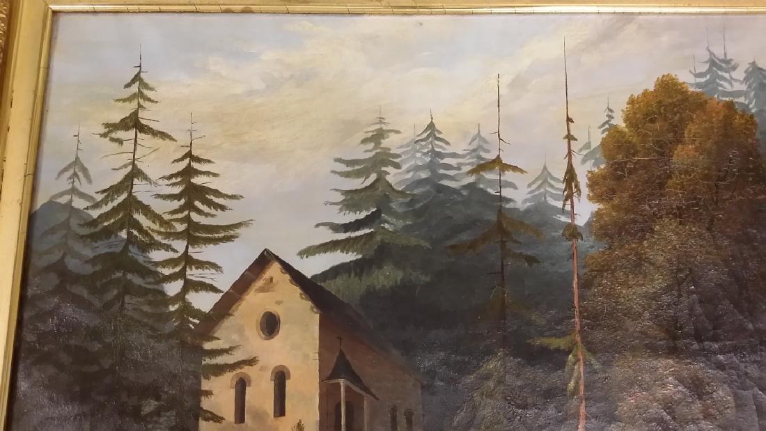 Framed signed L. D. Webster 1834 Pinx oil on canvas- - 6