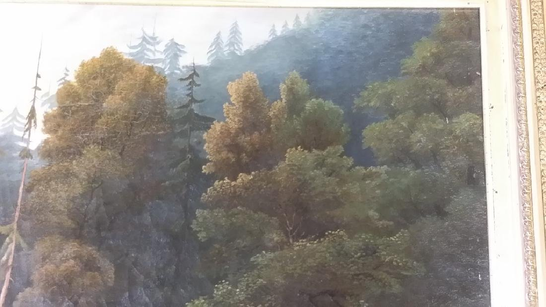 Framed signed L. D. Webster 1834 Pinx oil on canvas- - 7