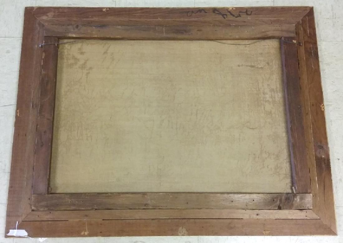 Framed signed L. D. Webster 1834 Pinx oil on canvas- - 9