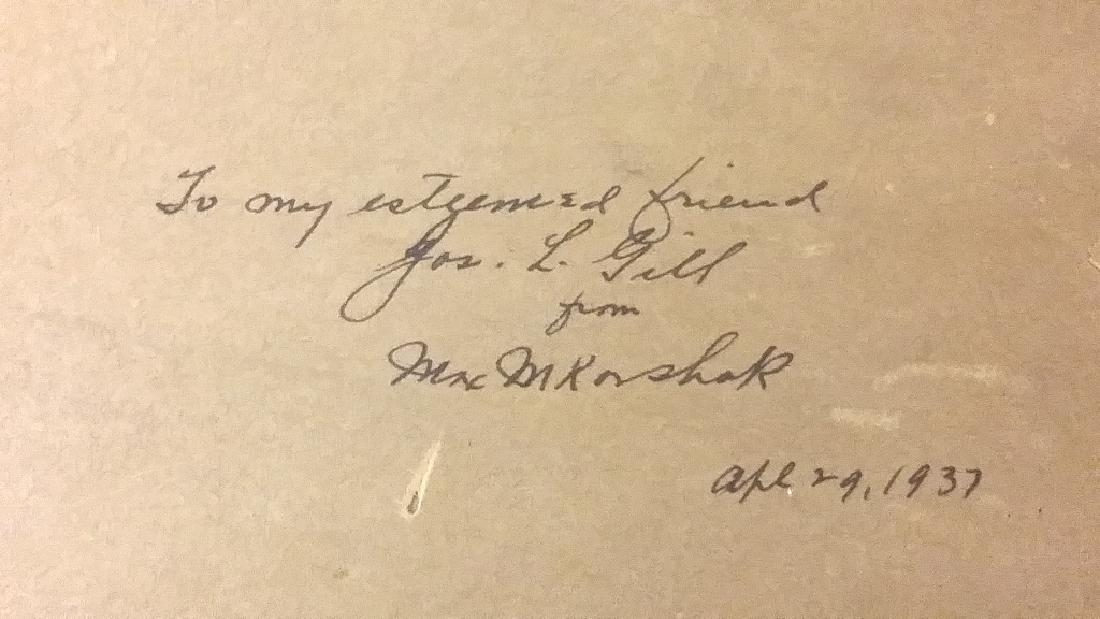 Framed signed Leonard H. Reedy watercolor- Indian on - 5