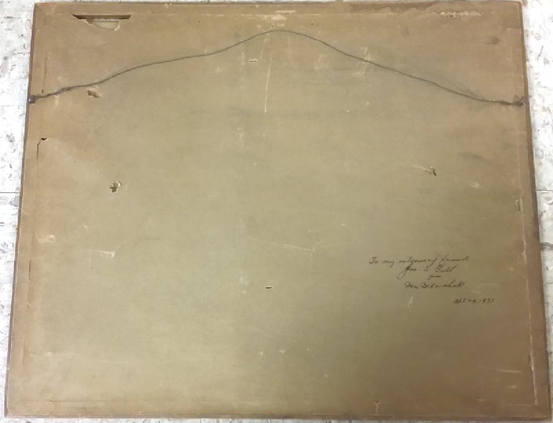 Framed signed Leonard H. Reedy watercolor- Indian on - 6