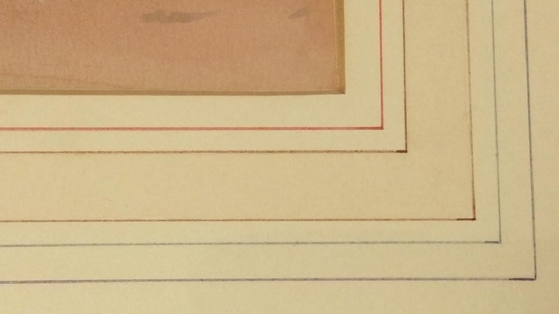 Framed signed Leonard H. Reedy watercolor- Indian on - 8