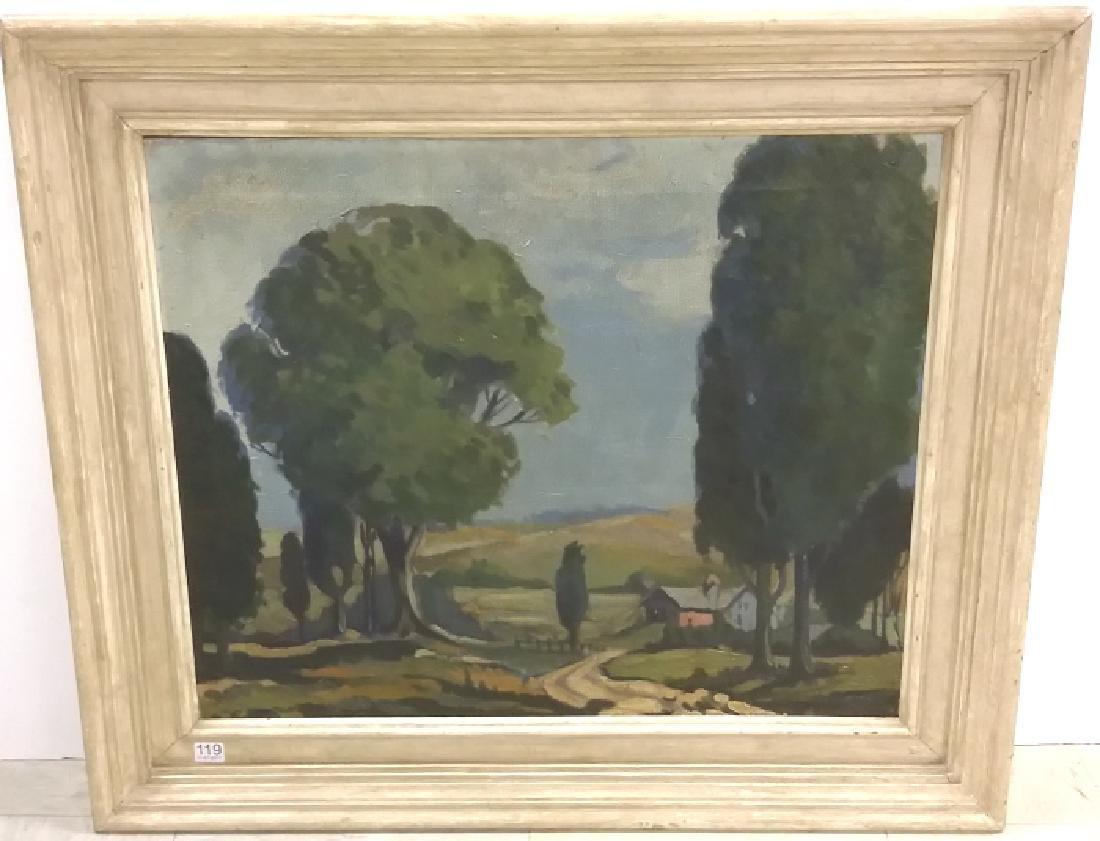 Framed signed (not fully legible) - impressionist