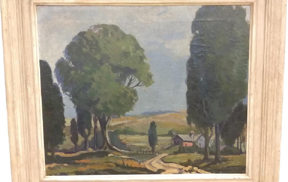 Framed signed (not fully legible) - impressionist - 2