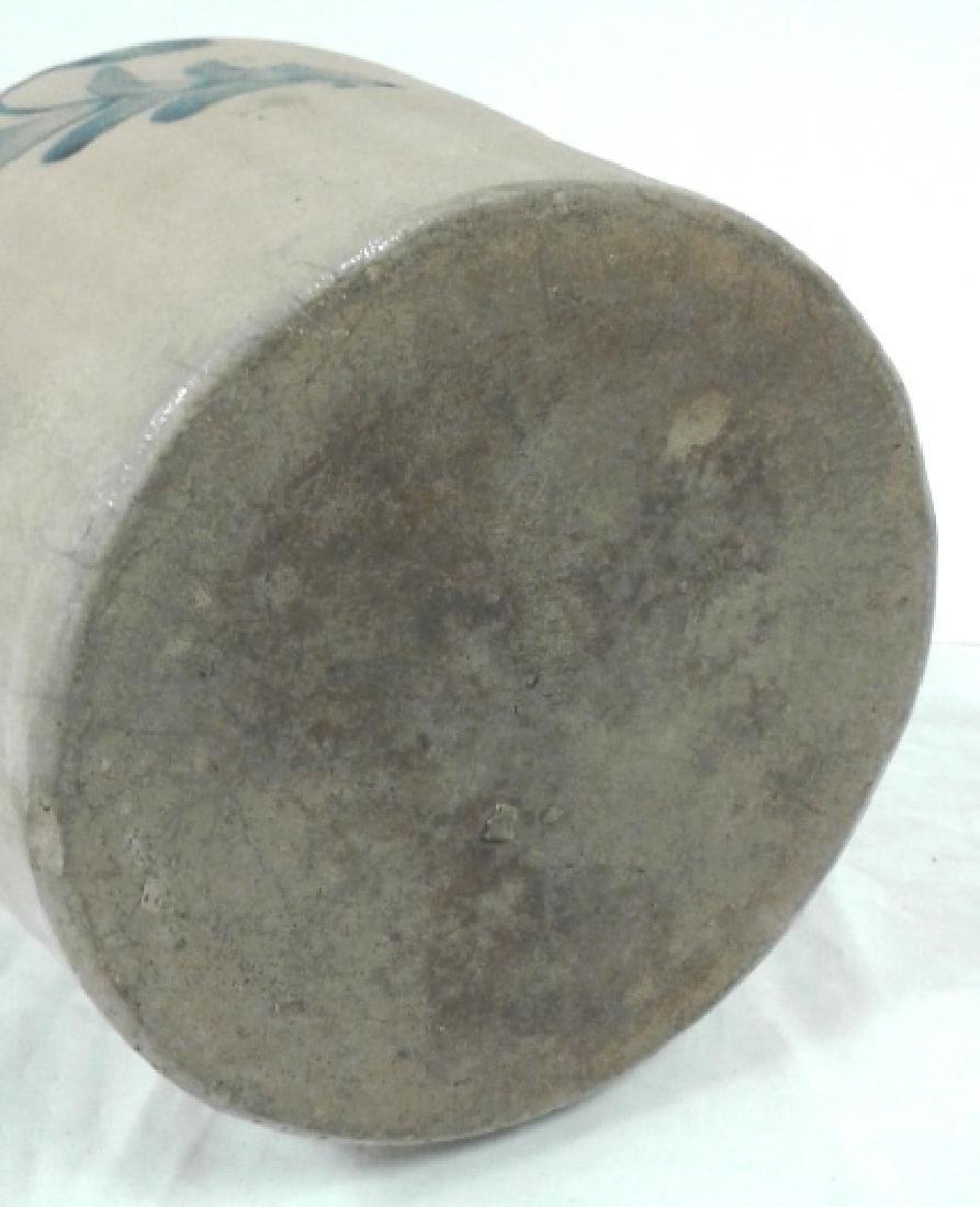 Civil War era stoneware 2 gallon floral jug - Darrow & - 10