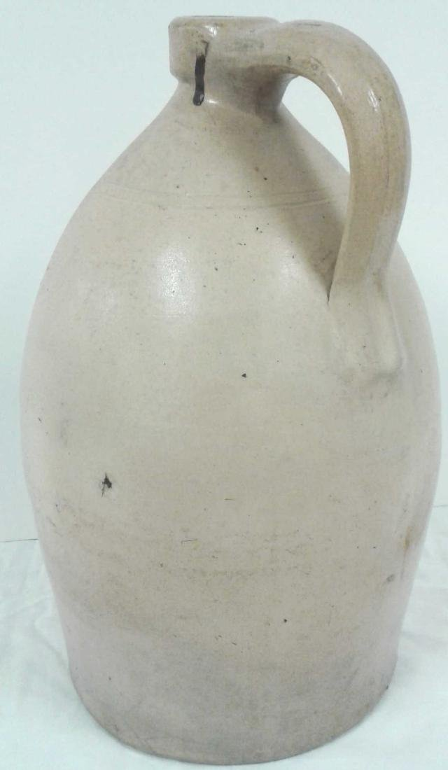 Civil War era stoneware 2 gallon floral jug - Darrow & - 3