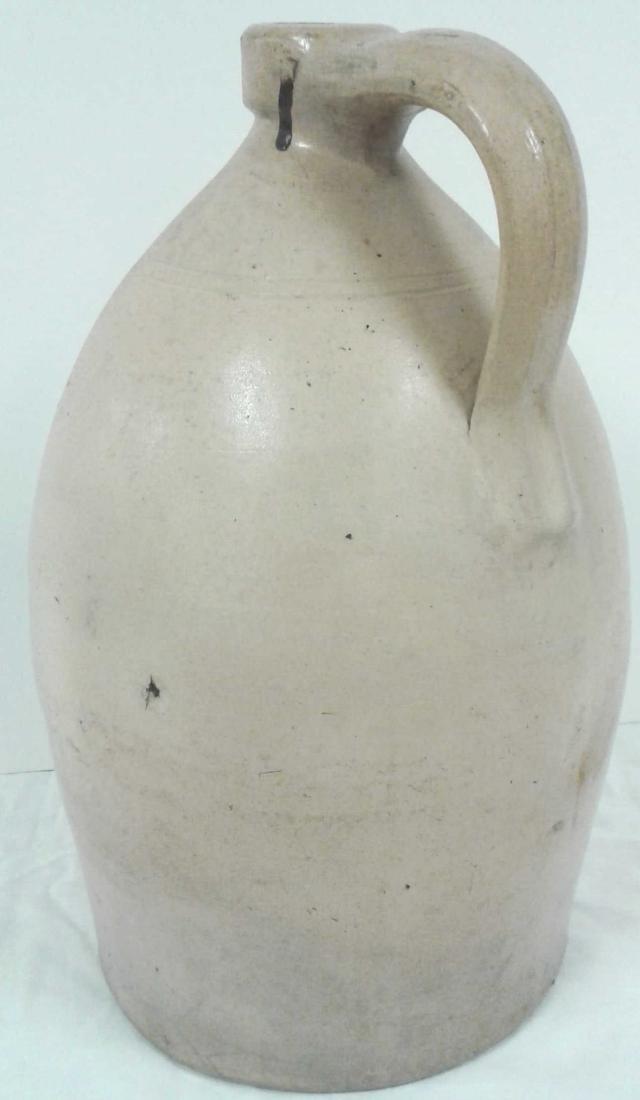 Civil War era stoneware 2 gallon floral jug - Darrow & - 3