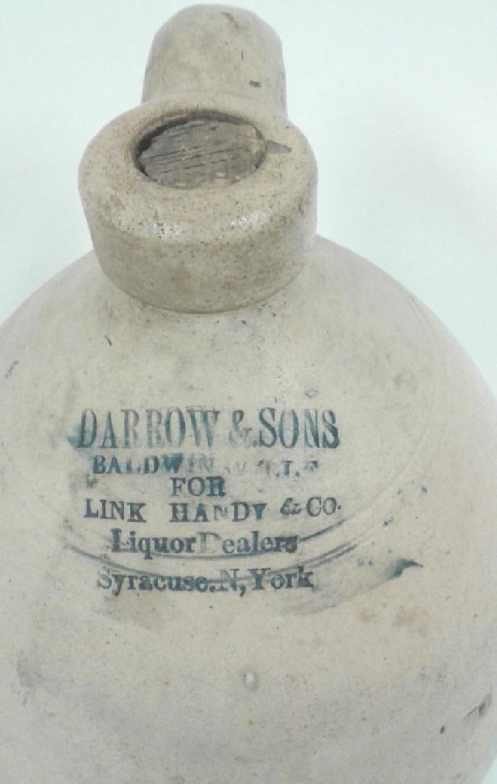 Civil War era stoneware 2 gallon floral jug - Darrow & - 5