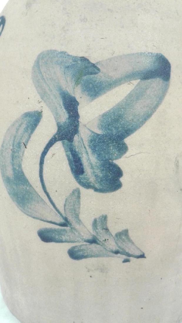 Civil War era stoneware 2 gallon floral jug - Darrow & - 6