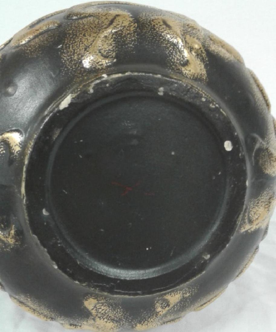 """Owens pottery Ohio Henri Deux Art Nouveau girl 10"""" vase - 4"""
