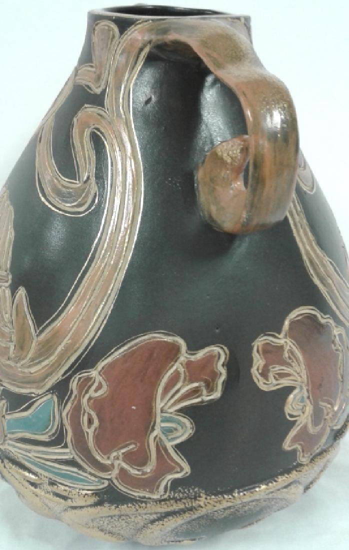 """Owens pottery Ohio Henri Deux Art Nouveau girl 10"""" vase - 5"""