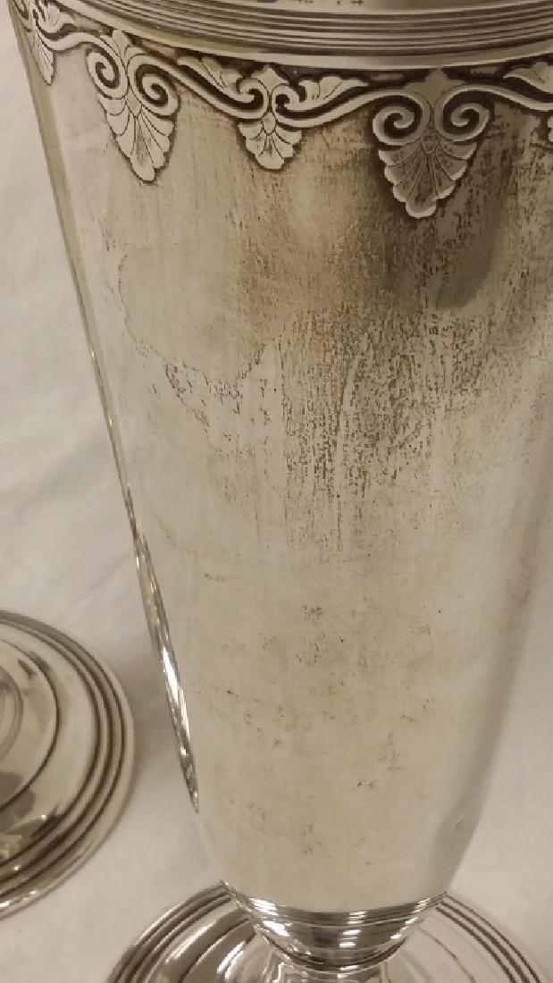 Pair of Tiffany & Company silver trumpet vases, New - 5