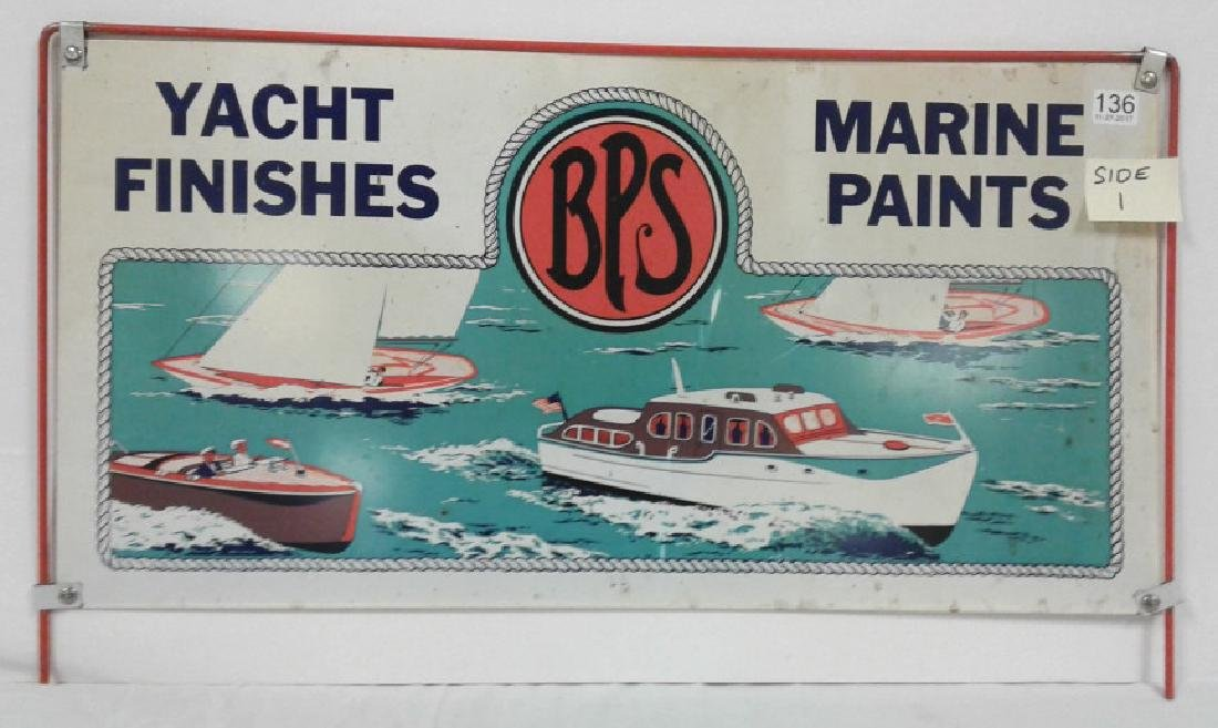 Yacht Finishes/ Marine Paints BPS double sided display